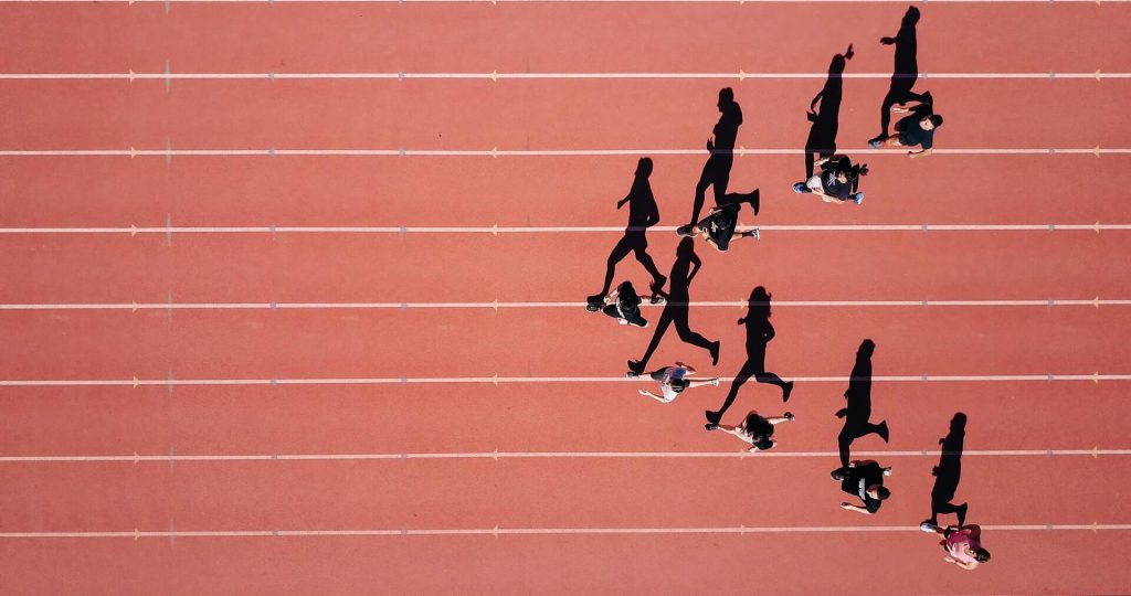 hardlopen door een groep mensen is een van de beste sporten om af te vallen