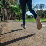 hardlopen en afvallen door een persoon